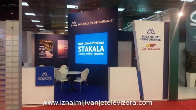Iznajmljivanje LED ekrana za štand na sajmu automobila u Beogradu